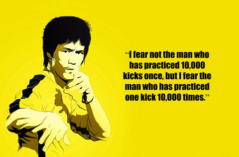 Spirit Of Sports - Motivational Quote - The Power Of Practice - Bruce Lee