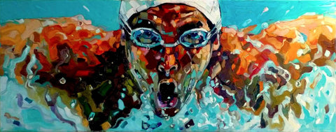 Spirit Of Sports - Painting - The Swimmer