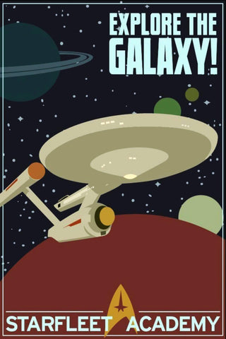 Star Trek - Explore The Galaxy - Retro Fan Art Propaganda Poster - Tallenge Hollywood Collection by Sam