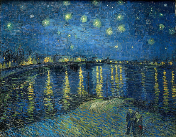Artwork of Starry Night Over The Rhone by Vincent Van Gogh