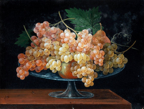 Still Life with Fruit in a Glass Fruit Bowl