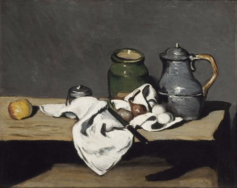 Still life with kettle - Canvas Prints