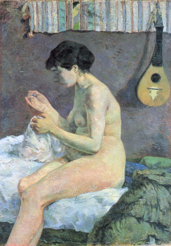 Study Of A Nude (Suzanne Sewing) - Canvas Prints
