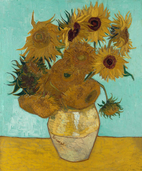 Artwork of Sunflowers (Munich Museum Version) - Vincent van Gogh by Vincent Van Gogh
