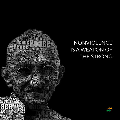 Mahatma Gandhi Quotes - Nonviolence Is A Weapon Of The Strong