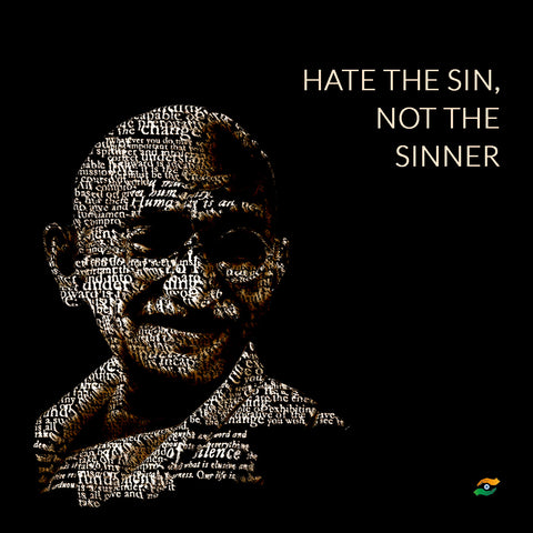 Mahatma Gandhi Quotes - Hate The Sin, Not The Sinner