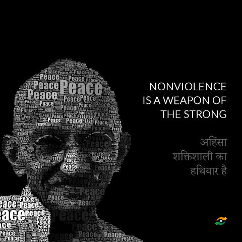 Mahatma Gandhi Quotes In Hindi - Nonviolence Is A Weapon Of The Strong