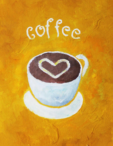 Coffee Love Painting by Aditi Musunur