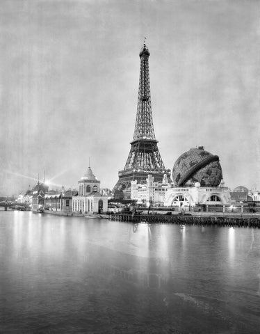 Eiffel Tower, Paris Vintage Black and White Art