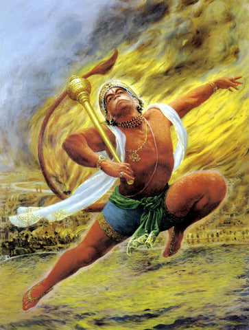 Hanuman Burns The Lanka