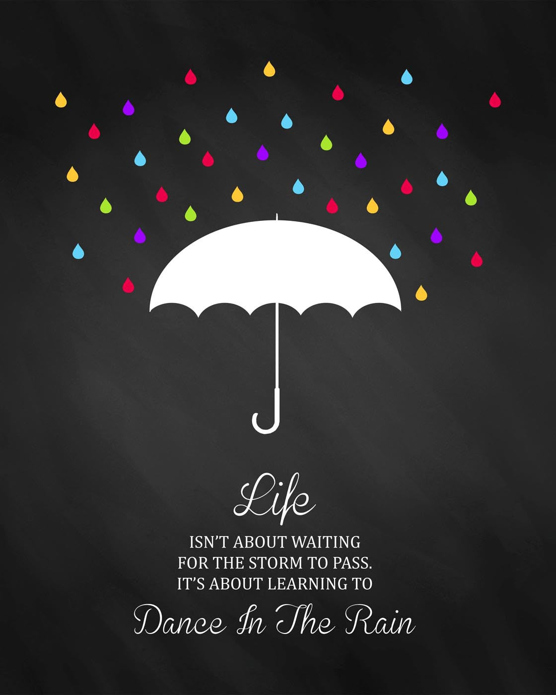 motivational poster dance in the rain inspirational quote