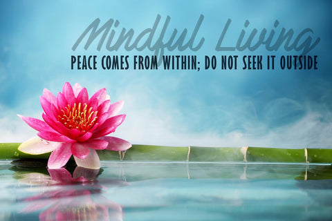 Motivational Poster - MINDFULNESS - Peace Comes From Within Do Not Seek It Outside - Inspirational Quote