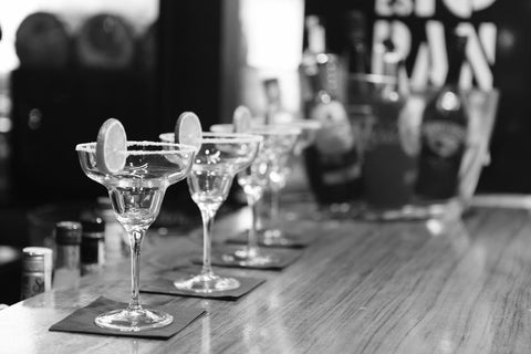 Bar Art - Black And White Bar Drinks by Deepak Tomar
