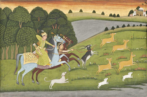 Baz Bahadur And Rupmati Out Hunting