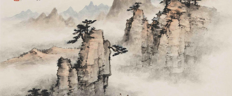 Chinese Art Vintage Nature Landscape by Sina Irani | Buy Posters, Frames, Canvas  & Digital Art Prints