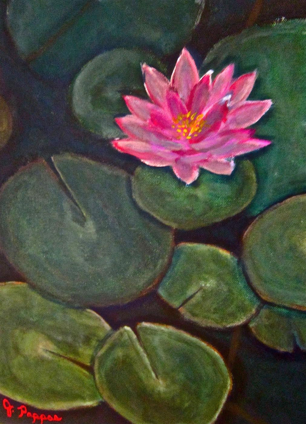 Floral Art Lotus Flower Painting Framed Prints By Sam Mitchell