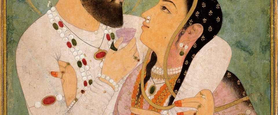 Indian Art - Rajput Painting - A Prince And His Beloved - Dara Shukoh With His Wife Nadira Banu Begum by Mahesh | Buy Posters, Frames, Canvas  & Digital Art Prints