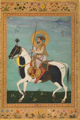 Indian Art - Shah Jahan on Horseback by Mahesh | Buy Posters, Frames, Canvas  & Digital Art Prints