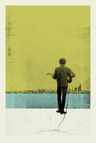 Music and Musicians Collection - Bob Dylan Retro Poster