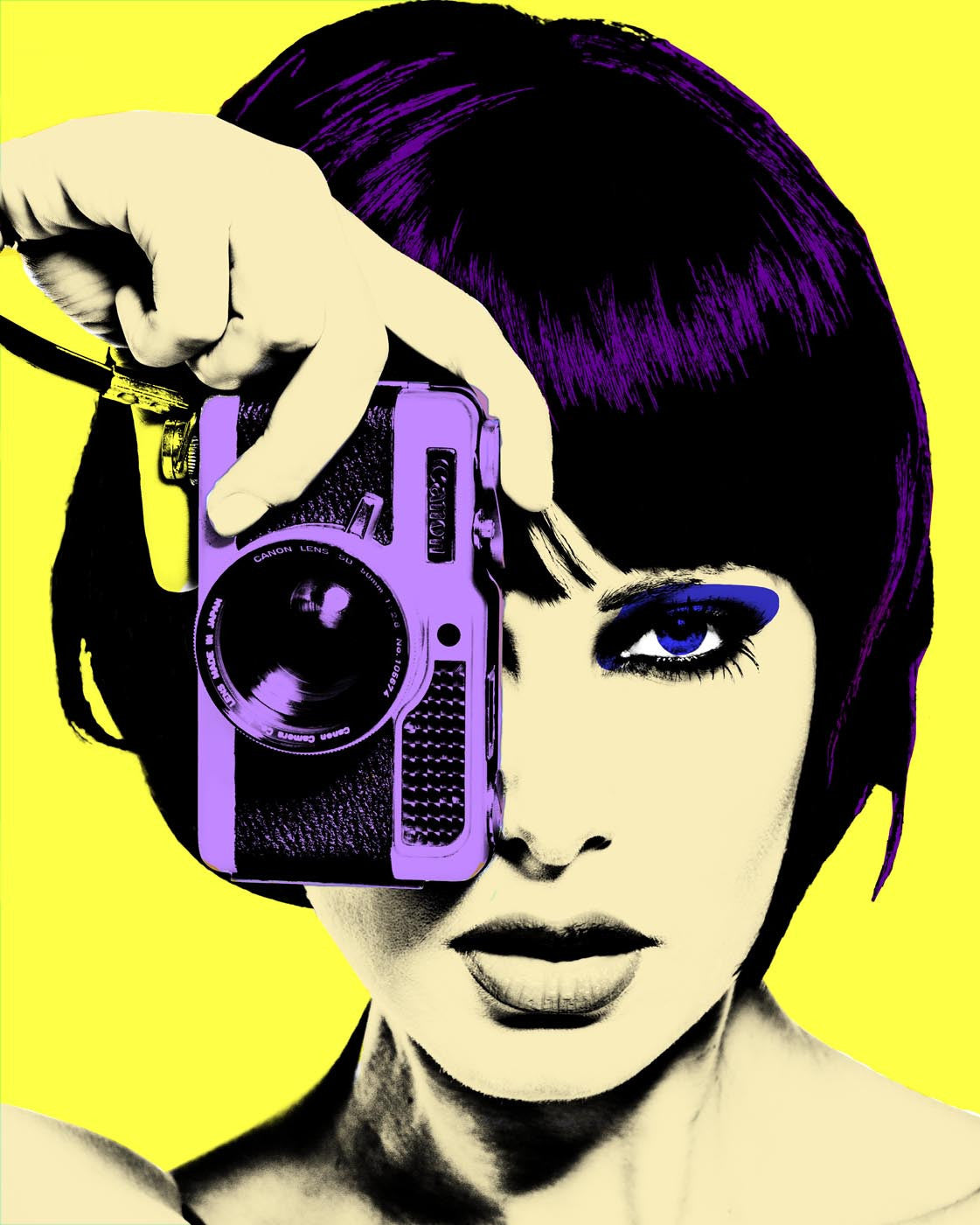 Pop Art - Girl With Camera - Canvas Prints by Aditi Musunur | Buy ...