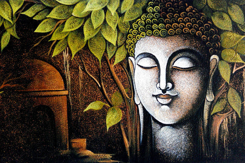 Tallenge Buddha Collection - Gautam Buddha Painting