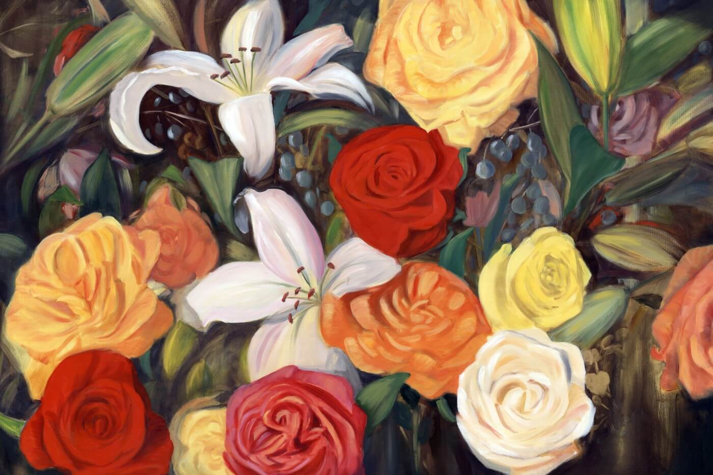 Tallenge Floral Art Collection - Contemporaryr Painting - Tropical ...