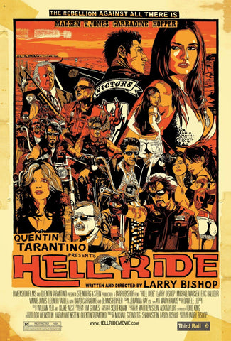Tallenge Hollywood Collection - Movie Poster - Tarantino - Hell Ride