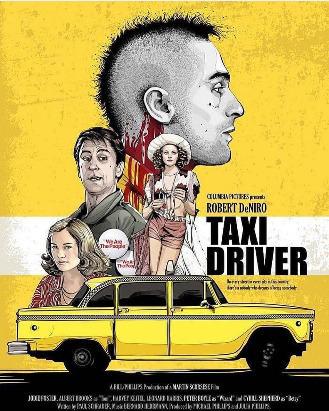 Taxi Driver Robert De Niro Hollywood Movie Poster Collection Canvas Prints By Tim Buy Posters Frames Canvas Digital Art Prints Small Compact Medium And Large Variants