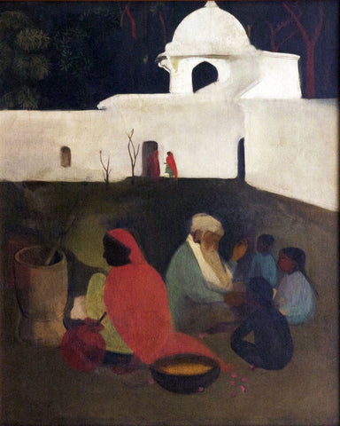 The Ancient Story-Teller - Amrita Sher-Gil - Famous Indian Art Painting by Amrita Sher-Gil