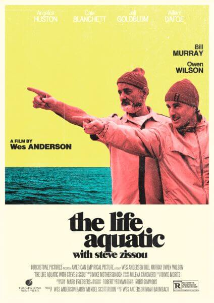 Original Rushmore Wes Anderson Art Print Poster Life Aquatic Bill Murray Zissou