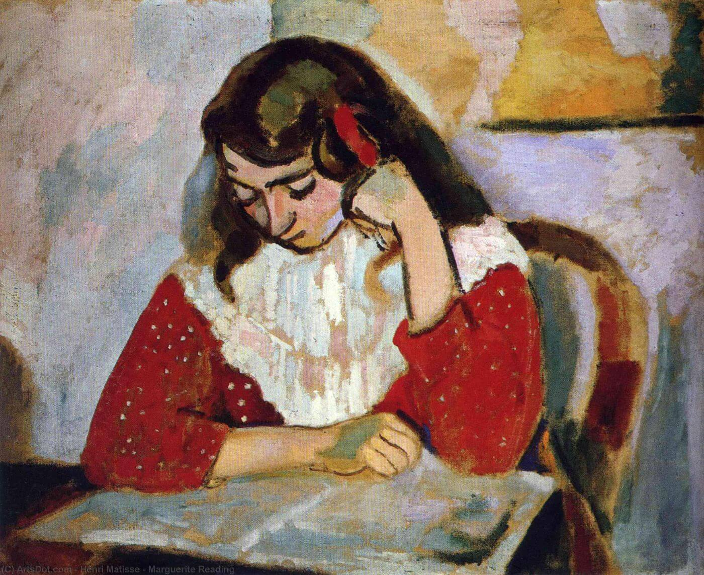 The Reader  - Henri Matisse Post-Impressionism Painting - Posters
