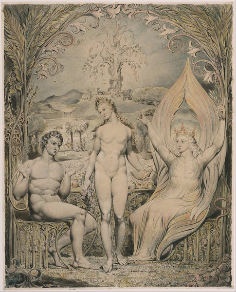 The Archangel Raphael with Adam and Eve - Large Art Prints