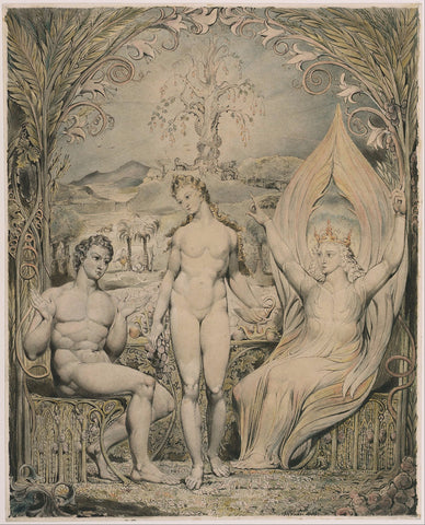 The Archangel Raphael with Adam and Eve by William Blake