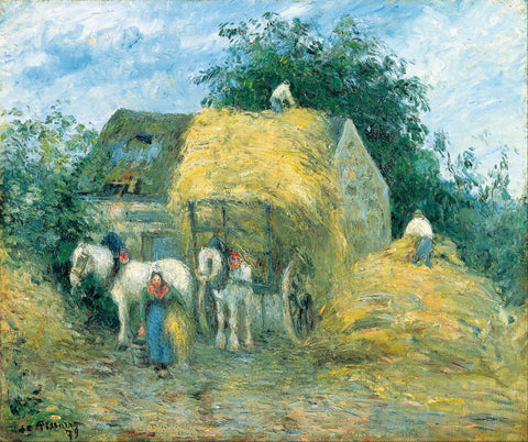The Hay Cart, Montfoucault - Canvas Prints