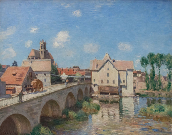 The Moret Bridge in the Sunlight - Art Prints
