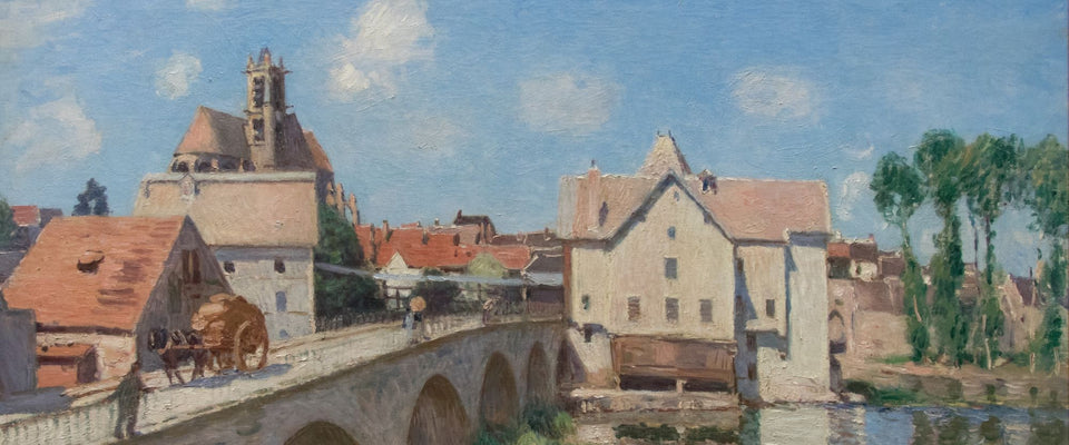 The Moret Bridge in the Sunlight by Alfred Sisley | Buy Posters, Frames, Canvas  & Digital Art Prints