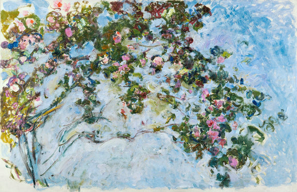 Artwork of The Roses by Claude Monet