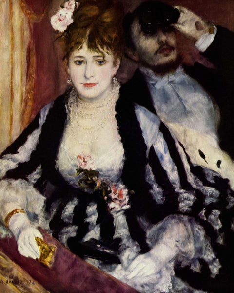 Artwork of The Theatre Box by Pierre-Auguste Renoir