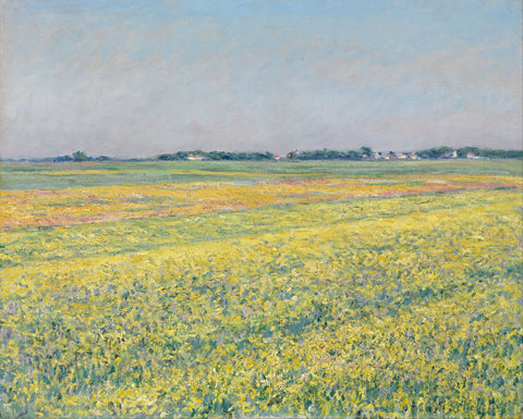 The plain of Gennevilliers, yellow fields - Canvas Prints