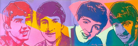 The Beatles - Andy Warhol - Pop Art Lithograph Print Poster