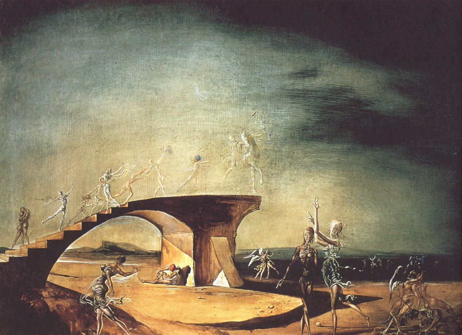 The Broken Bridge and the Dream - Framed Prints by Salvador Dali ...