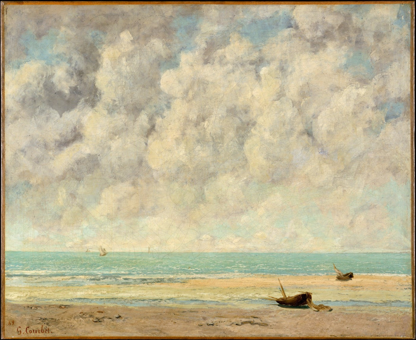 The Calm Sea - Large Art Prints by Gustave Courbet | Buy Posters ...