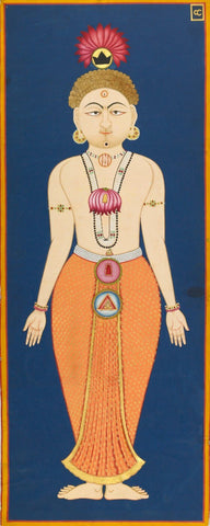 The Chakras of the Subtle Body Folio 4 from the Siddha Siddhanta Paddhati By Bulaki - Vintage Indian Yoga Painting