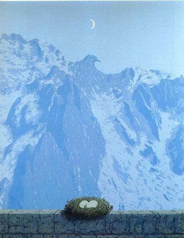 The Domain of Arnheim - René Magritte - Surreal Art Painting