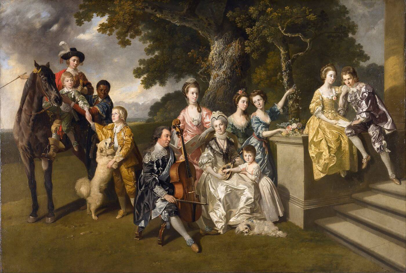 The Family of Sir William Young - Johan Zoffany - c 1767 -  Vintage Painting