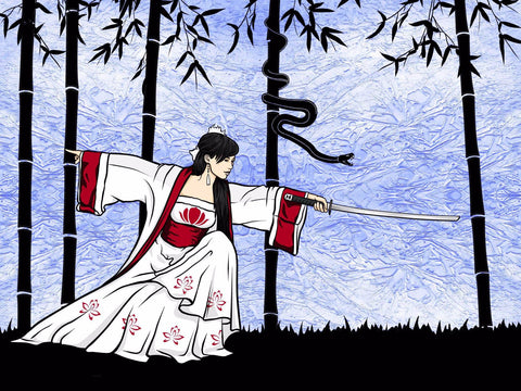 The Female Samurai by Anonymous Artist