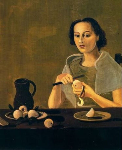 The Girl Cutting Apple by Andre Derain