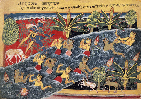 The Gopis Plead with Krishna to Return Their Clothing - Posters