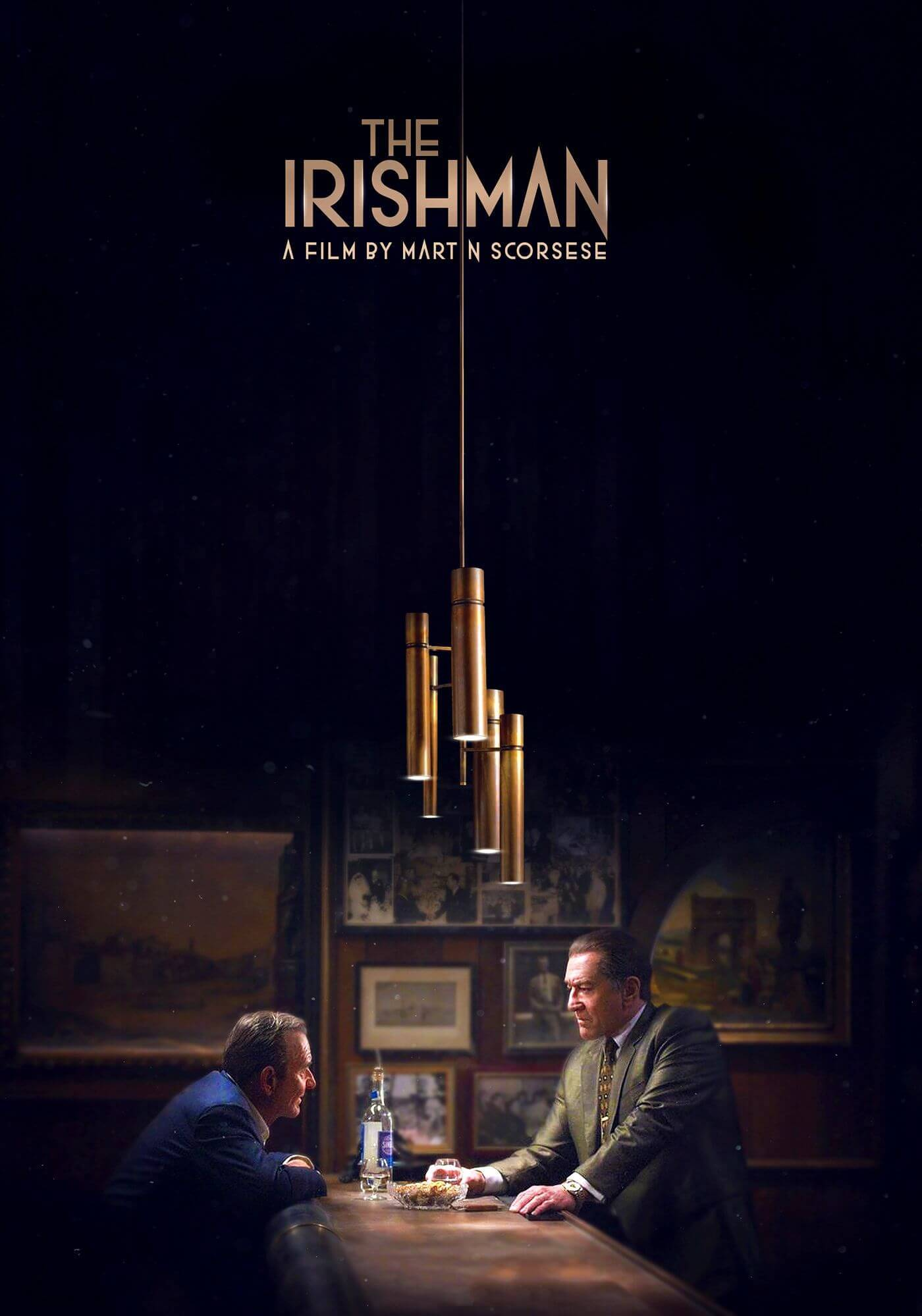 The Irishman - Robert De Niro - Joe Pesci - Martin Scorsese Hollywood English Movie Poster - Art Prints