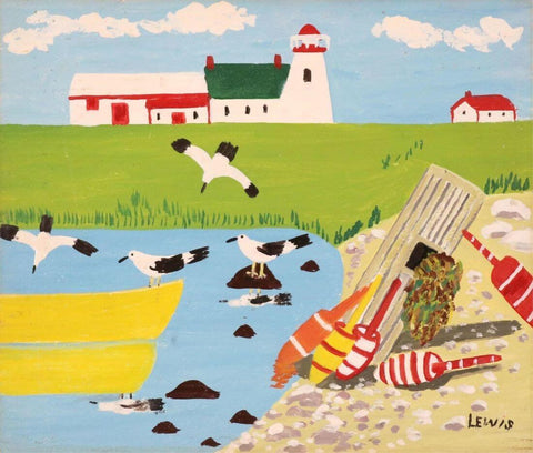 The Lighthouse - Maud Lewis - Posters by Maud Lewis
